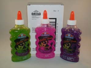 Elmers Classic Glitter Glue - Purple, Pink, Green